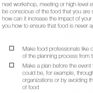 Nordic Food Event checklist